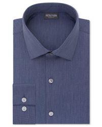 Kenneth Cole Reaction | Blue Slim-fit Techni-cole Flex Collar Solid Dress Shirt for Men | Lyst