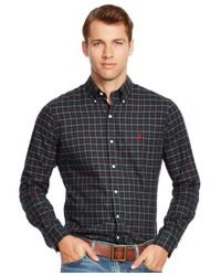 Polo Ralph Lauren - Green Checked Cotton Twill Shirt for Men - Lyst