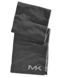Michael Kors | Gray Michael Placement Logo Muffler Scarf for Men | Lyst