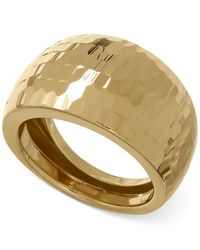 Macy's | Multicolor Wide Domed Ring In 14k Gold | Lyst