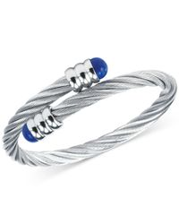 Charriol | Metallic Women's Celtic Lapis Lazuli-accent Stainless Steel Cable Bangle Bracelet 04-01-1165-6 | Lyst