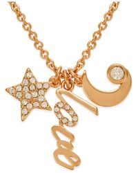 Kate Spade | Pink 12k Gold-plated Love Charm Pendant Necklace | Lyst