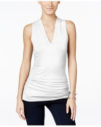 INC International Concepts | White Sleeveless V-neck Top, Only At Macy's | Lyst