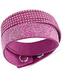 Swarovski - White Duo Crystal Wrap Bracelet - Lyst