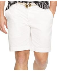 Polo Ralph Lauren | White Men's Classic-fit Flat-front Chino Shorts for Men | Lyst