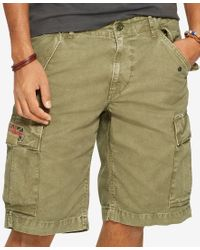 Denim & Supply Ralph Lauren - Green Men's Canvas Cargo Shorts for Men - Lyst
