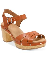 Clarks   Brown Artisan Women's Ledella Trail Platform Sandals   Lyst