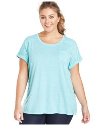 Style & Co. | Blue Plus Size Pocket T-shirt | Lyst