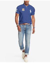 Polo Ralph Lauren - Blue Men's Big And Tall Black Watch Polo Shirt for Men - Lyst