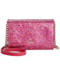 kate spade new york | Pink Glitter Bug Cami Crossbody | Lyst