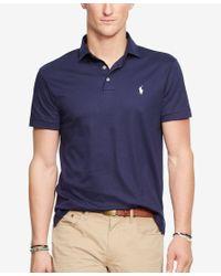 Polo Ralph Lauren - Blue Pima Cotton Soft-touch Shirt for Men - Lyst