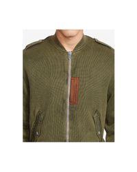 Polo Ralph Lauren - Green Men's Cotton Bomber Jacket for Men - Lyst