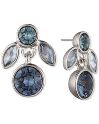 Givenchy - Silver-tone & Blue Stone Necklace - Lyst