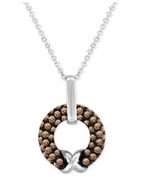 Le Vian | Metallic Chocolatier Chocolate Diamond Pendant Necklace (5/8 Ct. T.w.) In 14k White Gold | Lyst