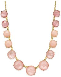 kate spade new york - Pink Gold-tone Stone Frontal Necklace - Lyst