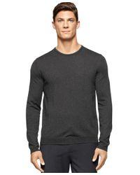 Calvin Klein | Green Men's Merino Wool Crew-neck Sweater for Men | Lyst