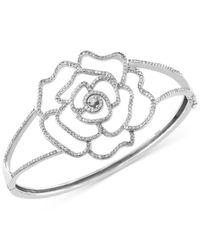 Effy Collection | Metallic Diamond Flower Hinge Bracelet (1-1/4 Ct. T.w.) In 14k White Gold | Lyst