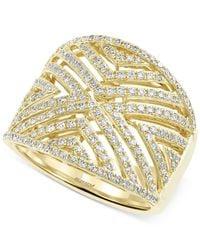 Effy Collection | Metallic Diamond Geometric Ring (3/4 Ct. T.w.) In 14k Gold | Lyst
