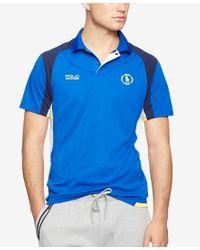 Polo Ralph Lauren - Black Polo Sport Men's Pique Mesh Polo Shirt for Men - Lyst