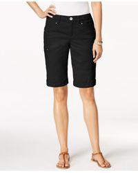 Style & Co. | Black Cargo Shorts, Only At Macy's | Lyst