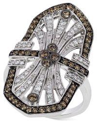 Le Vian   Multicolor Chocolatier Chocolate Deco Estate Diamond ( 9/10 Ct. T.w.) Ring In 14k White Gold   Lyst