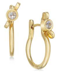 Marc By Marc Jacobs | Metallic Gold-tone Crystal Wingnut Hinge Hoop Earrings | Lyst