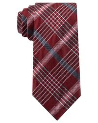 Kenneth Cole Reaction | Red Party Plaid Ii Slim Tie for Men | Lyst