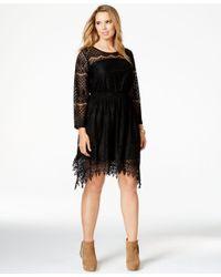 American Rag | Black Plus Size Handkerchief-hem Lace Dress, Only At Macy's | Lyst