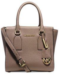 aa7e9840472c Lyst - Michael Kors Michael Selby Medium Top-zip Messenger Bag in Brown