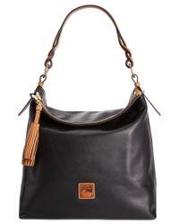 Dooney & Bourke | Black Pebble Small Logan Drawstring Bag | Lyst