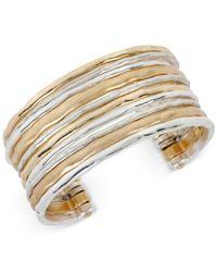 Robert Lee Morris | Metallic Two-tone Waide Banded Cuff Bracelet | Lyst