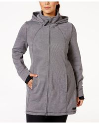 Calvin Klein | Gray Performance Plus Size Hooded Active Jacket | Lyst
