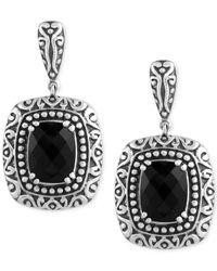 Effy Collection | Metallic Balissima By Effy Onyx (6-4/5 Ct. T.w.) Drop Earrings In Sterling Silver | Lyst