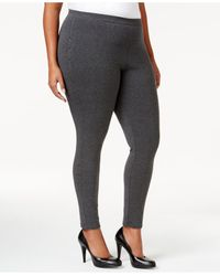 Style & Co. | Gray Plus Size Rhinestone Embellished Leggings, Only At Macy's | Lyst