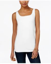Style & Co. | White Petite Shelf-bra Tank Top, Only At Macy's | Lyst
