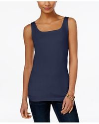 Style & Co. | Blue Petite Shelf-bra Tank Top, Only At Macy's | Lyst