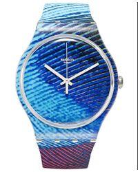 Swatch - Multicolor Unisex Swiss Peacobello Multi-color Silicone Strap Watch 41mm Suok113 - Lyst