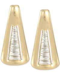 Robert Lee Morris | Metallic Two-tone Triangle Drop Earrings | Lyst