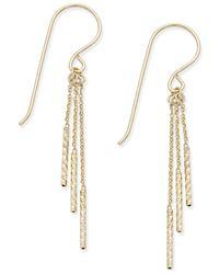 Macy's   Metallic Triple-rod Drop Earrings In 10k Gold   Lyst