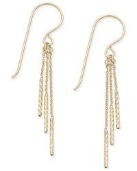 Macy's | Metallic Triple-rod Drop Earrings In 10k Gold | Lyst