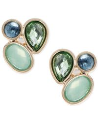 Lonna & Lilly | Green Gold-tone Stone Cluster Stud Earrings | Lyst
