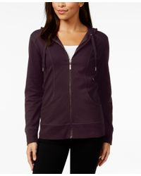 Style & Co. - Purple Hooded Jacket, Only At Macy's - Lyst
