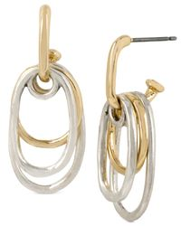 Robert Lee Morris | Metallic Two-tone Multi-oval Drop Earrings | Lyst