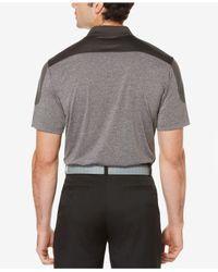 PGA TOUR - Gray Men's Colorblocked Golf Polo for Men - Lyst