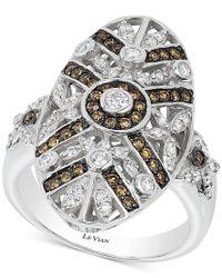 Le Vian - Multicolor Chocolatier Chocolate Deco Estate Diamond (3/4 Ct. T.w.) Ring In 14k White Gold - Lyst