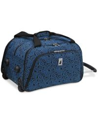 "London Fog | Blue Closeout! Greenwich 19"" International Rolling Duffle, Only At Macy's for Men 