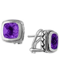 Effy Collection | Multicolor Balissima By Effy Amethyst Earrings (4-1/10 Ct. T.w.) In 18k Gold And Sterling Silver | Lyst