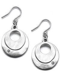 Kenneth Cole - Metallic Earrings, Dual Circle - Lyst