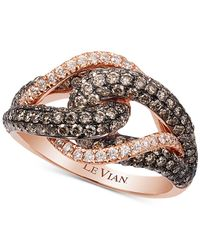 Le Vian | White And Chocolate Diamond Ring (1-1/2 Ct. T.w.) In 14k Rose Gold | Lyst
