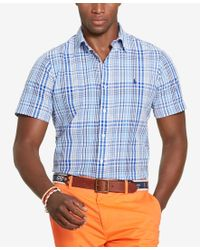 Polo Ralph Lauren | Blue Men's Men's Short-sleeve Plaid Seersucker Shirt for Men | Lyst